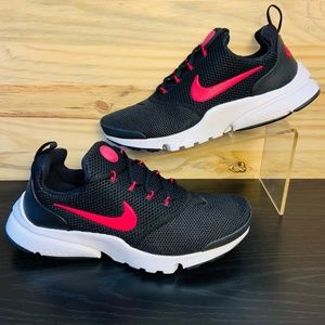 New Nike Presto Fly Running Shoes Black Pink Rush
